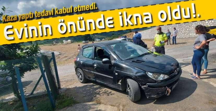 KAZA YAPTI EVE GİTTİ !.