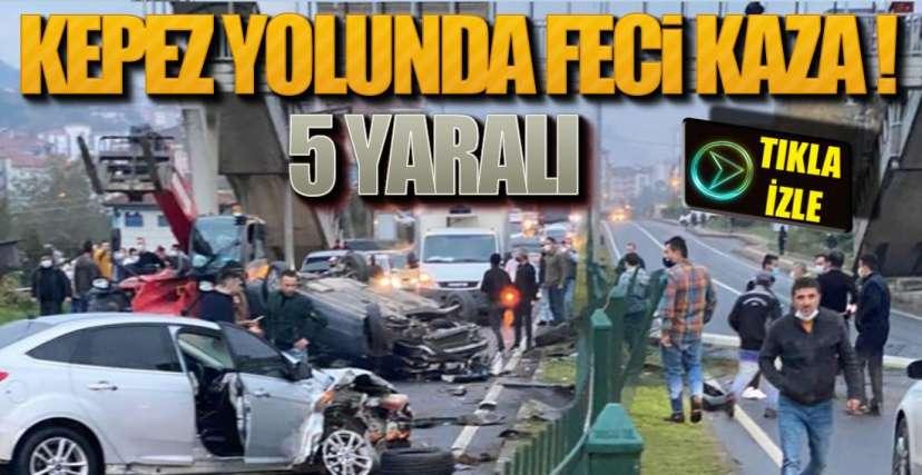 KEPEZ YOLUNDA FECİ KAZA !.