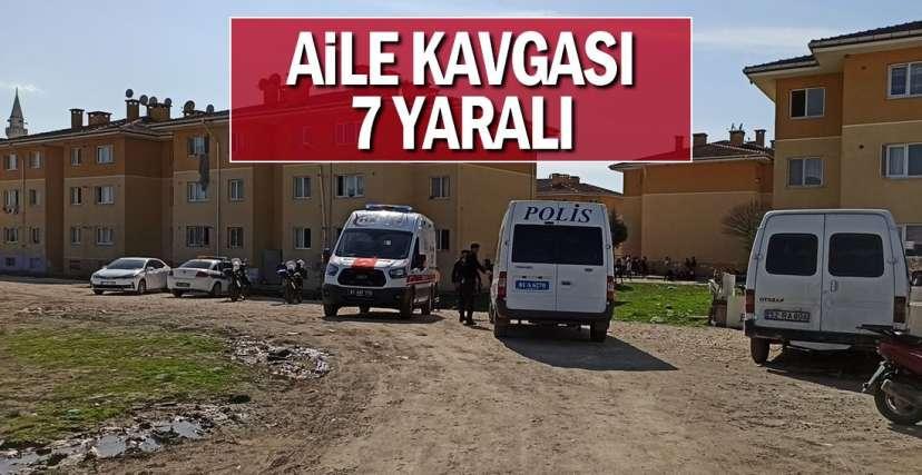 KOMŞUDA SİLAHLAR ÇEKİLDİ !.