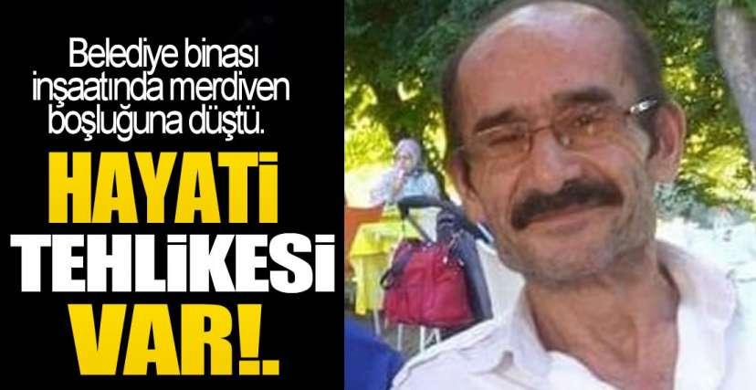 MERDİVENDEN İNİYORDU !.