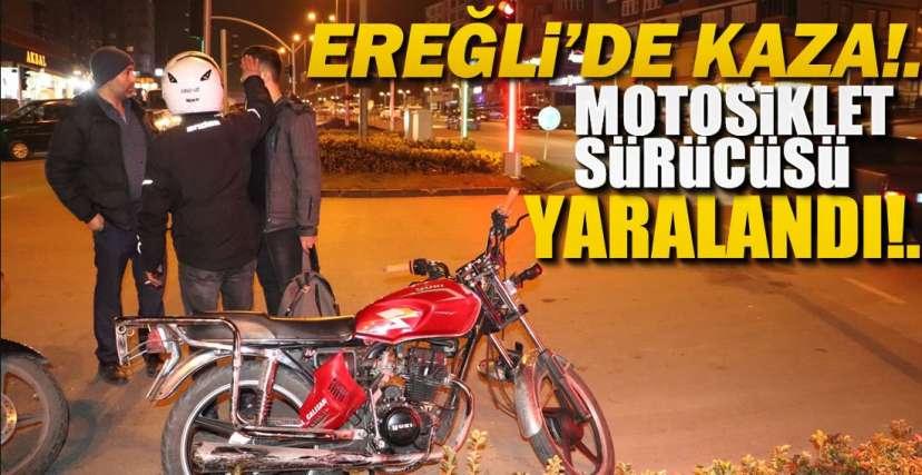 MOTOSİKLET OTOMOBİLE ÇARPTI !.