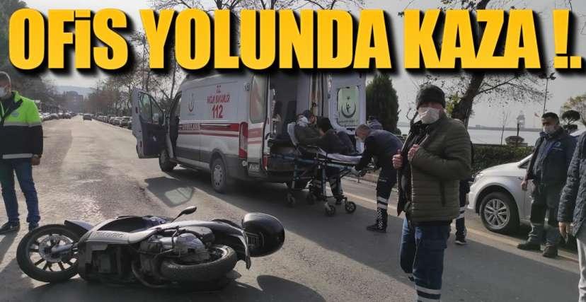 OFİS YOLUNDA KAZA !.