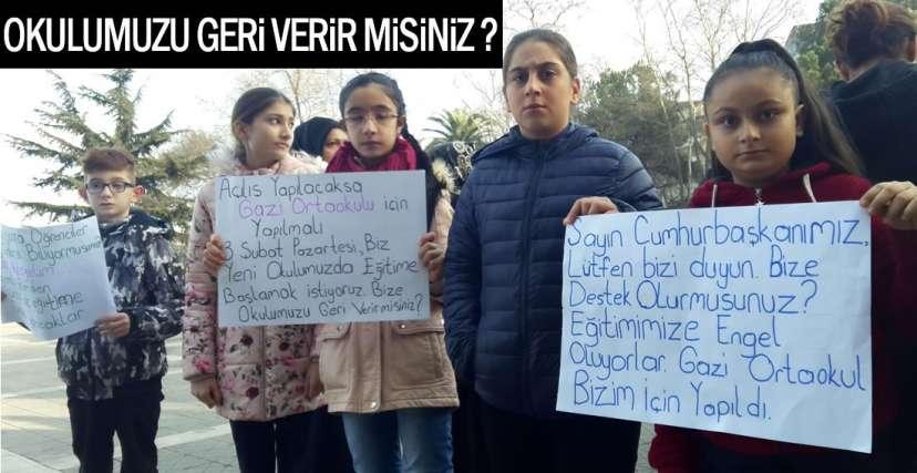 ÖĞRENCİ VE VELİLER EYLEM YAPTI!.