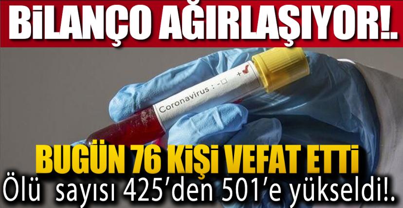 ÖLÜ SAYISI 501'E YÜKSELDİ!.