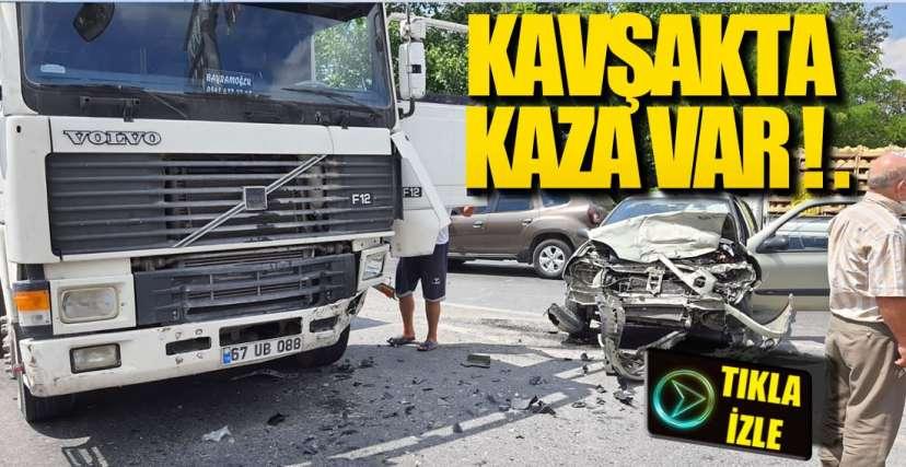 ÖREN KAVŞAĞINDA KAZA !.