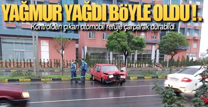 REFÜJE ÇARPARAK DURABİLDİ !.