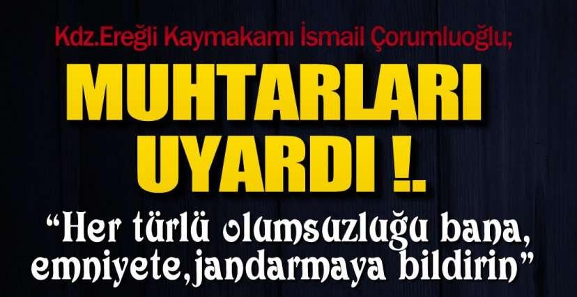 VAKA ARTIŞINA DİKKAT ÇEKTİ !.