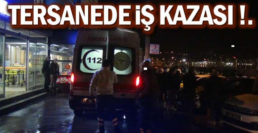 YARALI İŞÇİ HASTANEYE KALDIRILDI !.