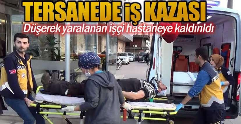 YARALI İŞÇİ TEDAVİ ALTINDA !.
