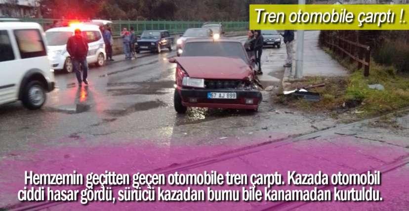 YÜK TRENİ ÇARPTI !.